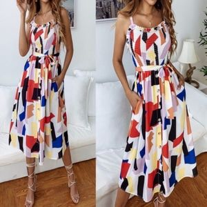 LUCILLE Pop of Color dress